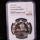 1997-P Botanic Garden Commemorative Silver Commemorative Dollar Coin. & Display Box.