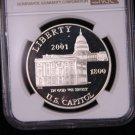 2001-P Capitol Commemorative Silver Commemorative Dollar Coin. & Display Box.