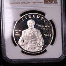 2004-P, Edison, Commemorative Silver Commemorative Dollar Coin. & Display Box.