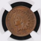 1905 Indian Head Penny, Choice Brown. NGC Graded, MS-62.