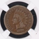 "1877 Indian Head Cents, ""KEY DATE"", ""PROBLEM FREE"" and Affordable. NGC VG-10."