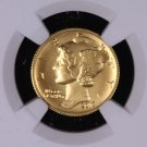 2016-W Mercury Gold, Dime, Commemorative Coin. PCGS or NGC Holder, SP-70