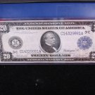 1914 $20 Federal Reserve Note. Nice Color/Fiber. Large Size. Nice Eye Appeal.