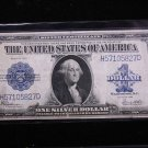 1923 $1 Large Note Silver Certificate. Horse Blanket. Nice Color. #5827