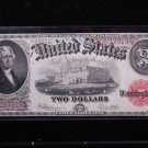 1907 $2 United States Legal Tender Note.  Nice Circualted Rare Note. #7919