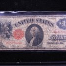 1917 $1 United States Legal Tender Note.  Nice Circualted Rare Note. #0907