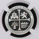 2019-S Washington Quarter. American Memorial Park. NGC PF-70, Ultra Cameo. Clad Coin. First release.