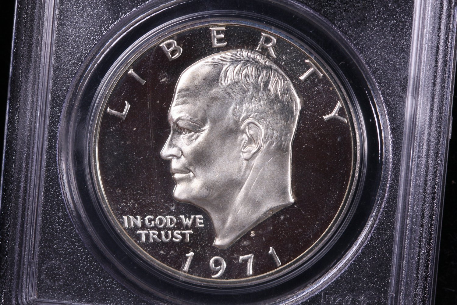 1971-S Eisenhower Dollar. Silver Proof,  PCGS PF-69.