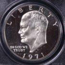 1971-S Eisenhower Dollar. Silver Proof,  PCGS PF-69.