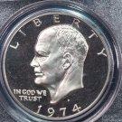 1974-S Eisenhower Dollar. Clad Proof,  PCGS PF-69.