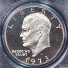 1973-S Eisenhower Dollar. Clad Proof,  PCGS PF-69.