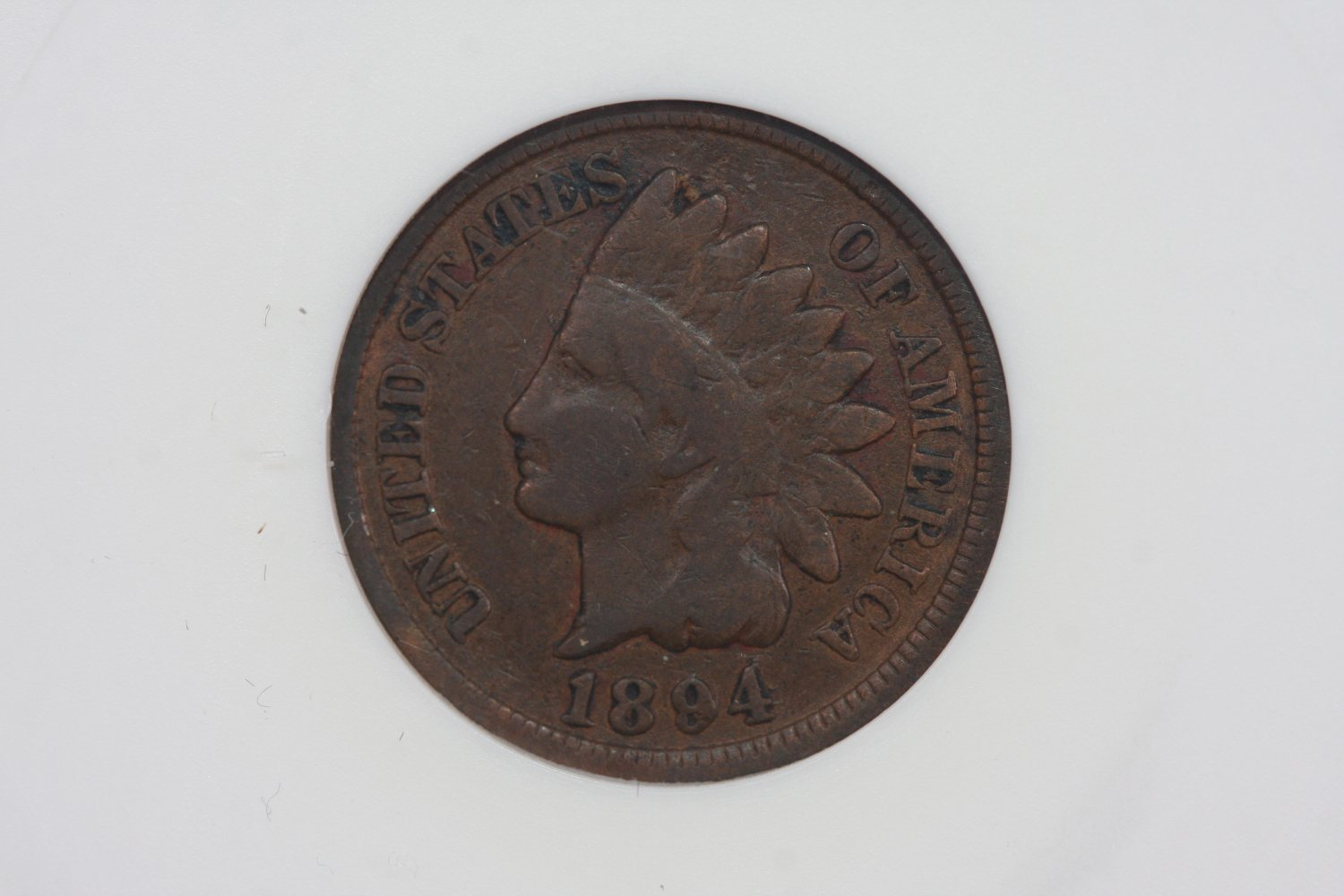 1894/94 Indian Head Cents,  OVER DATE.  ANACS graded VG-8. FS-011