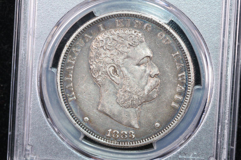 1883 Hawaii Dollar, Very Nice Original Coin. PCGS Graded XF-45.