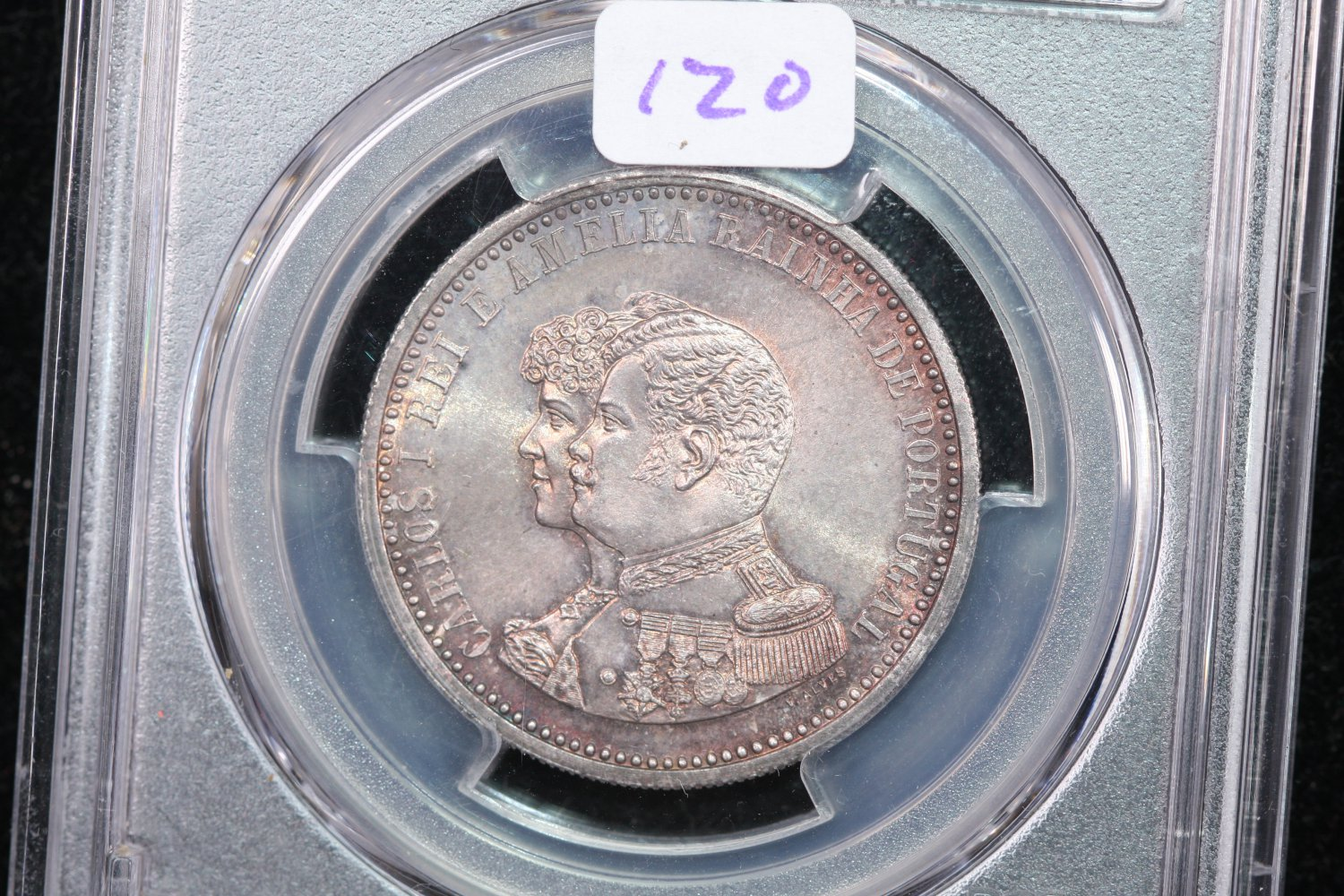 1898 Portugal 500R, Discovery of India, PCGS MS-64.