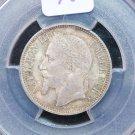 1868-A France, 1 Franc. PCGS MS-63.