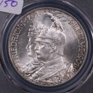 1901 Prussia, 5 Mark. Great, Blast White Coin.  PCGS MS62..