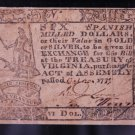 Virginia Colonial Note, $6. Dated: October 20, 1777. PMG Graded, VF25.
