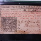 New Jersey Colonial Note, 15 Shillings. Dated March 25, 1776. PMG EF45..