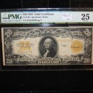 1922 $20 Gold Certificate, Fr# 1187, Speelman/White. PMG Graded VF25. History!