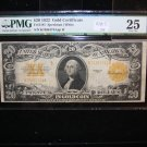 1922 $20 Gold Certificate, Fr# 1187, Speelman/White. PMG Graded VF25. History!