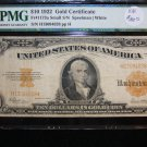 1907 $10 Gold Certificate, Fr#1173a, Small Serial Number.. PMG VF25.