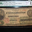 1862 $1 Legal Tendar Note. Fr# 174-234. RARE NOTE.  Early U.S. Currency. Civil War Era.