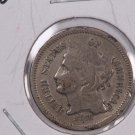 1868 3 Cent Copper Nickel.  Nice Circulated Coin. Store Sale #0204.