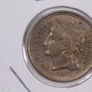 1868 3 Cent Copper Nickel.  Nice Circulated Coin. Store Sale #0206.