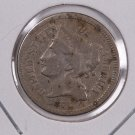 1874 3 Cent Copper Nickel.  Nice Circulated Coin. Store Sale #0239.