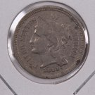 1881 3 Cent Copper Nickel.  Nice Circulated Coin. Store Sale #0245.