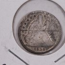 1838 Seated Liberty Half Dime.  Circulated Coin. Store Sale #0284.