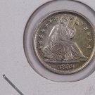 1839-O Seated Liberty Half Dime.  About UN-Circulated Coin. Store Sale #0290.