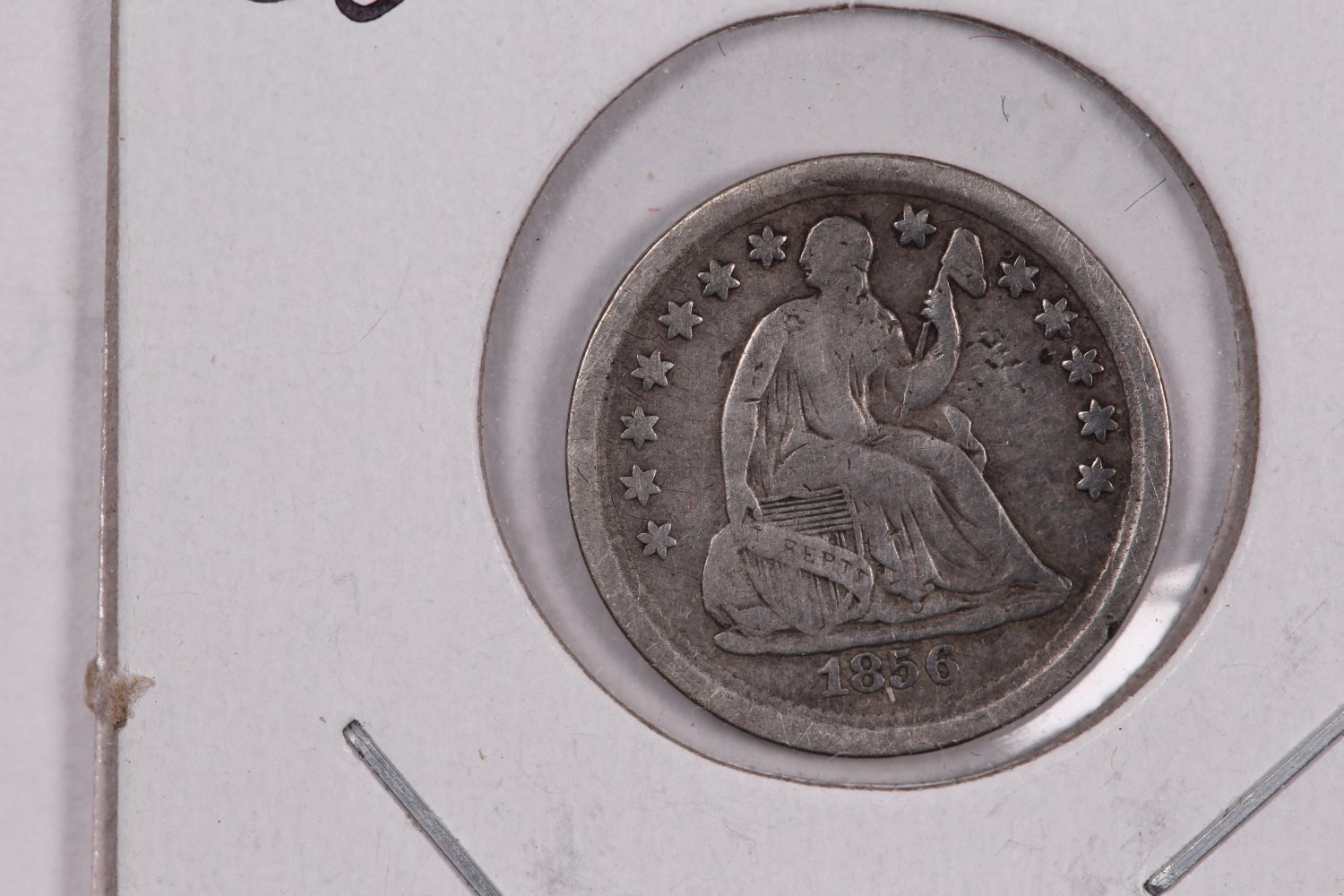 1856 Seated Liberty Half Dime. Circulated Coin. Store Sale #0404.