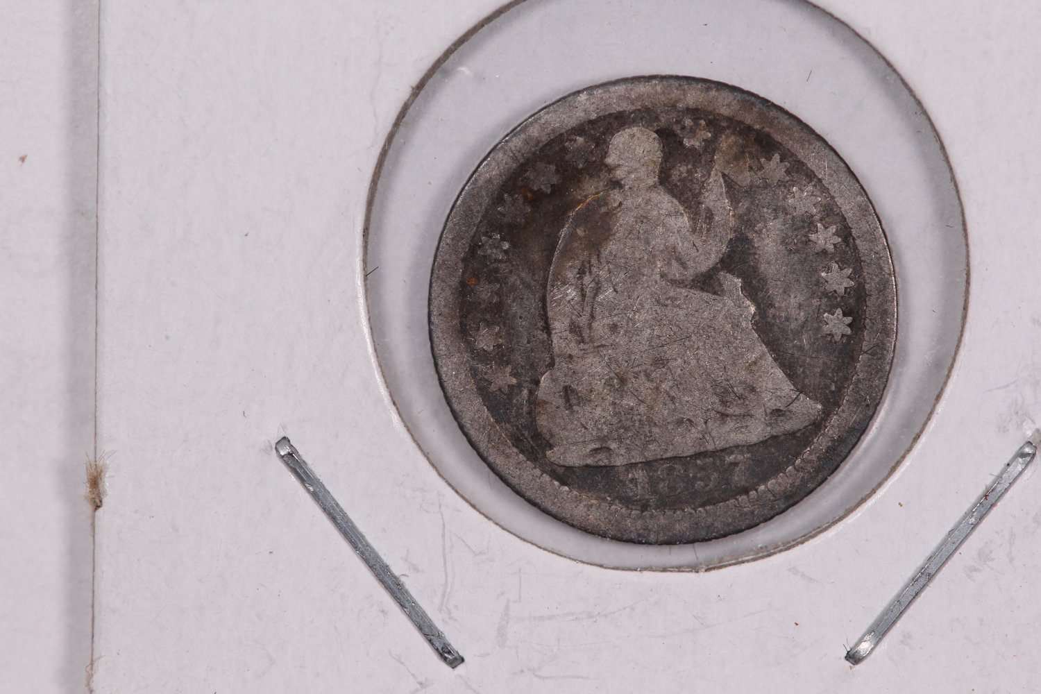 1857-O Seated Liberty Half Dime. Circulated Coin. Store Sale #0420.