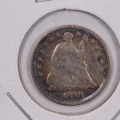 1858 Seated Liberty Half Dime. Inverted Date, Highly Collectible. Circulated Coin. Store Sale #0422.