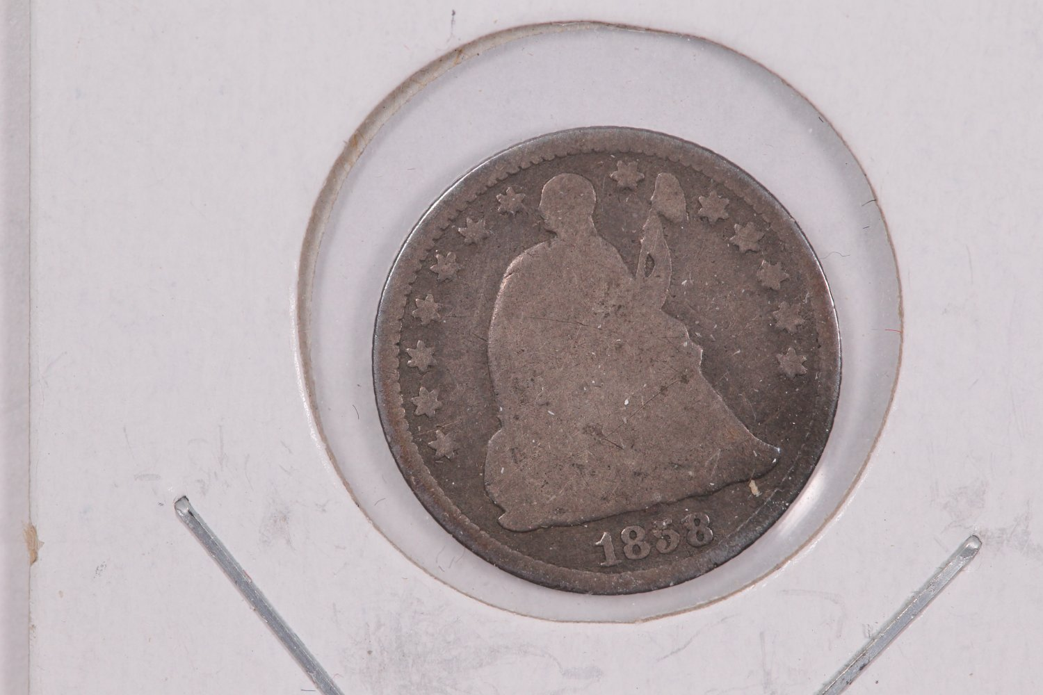 1858-O Seated Liberty Half Dime.  Circulated Coin. Store Sale #0432.