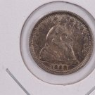 1858-O Seated Liberty Half Dime.  About UN-Circulated Coin. Nice Strike. Store Sale #0434.