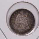 1859 Seated Liberty Half Dime.  X.F. Circulated Coin. Affordable. Store Sale #0438.