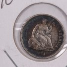 1861 Seated Liberty Half Dime.  About UN-Circulated Coin. Affordable. Store Sale #0450.