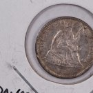 1861 Seated Liberty Half Dime. X.F. Circulated Coin.  Store Sale #0462.