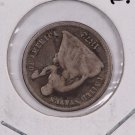 1872 Seated Liberty Half Dime. Re-Punched Date, Circulated Coin. Store Sale #0489.