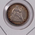 1872 Seated Liberty Half Dime.  Circulated Coin. Store Sale #0495.