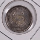 1872-S Seated Liberty Half Dime.  Circulated Coin. Store Sale #0497.