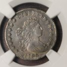 1796 Draped Bust Dime. 1st Year Of American Dime. Very Rare Coin. NGC Graded. AU Details.