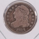 1834 Cap Bust Dime.  Large 4, Circulated Coin. Store #0511.