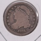 1837 Cap Bust Dime. Circulated Coin. Store #0533.