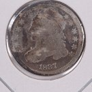 1837 Cap Bust Dime. Circulated Coin. Store #0537.