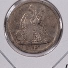 1837 Seated Liberty Dime. No Star, Small Date, Circulated Coin. Store #0541.