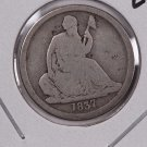 1837 Seated Liberty Dime. No Star, Large Date, Circulated Coin. Store #0543.