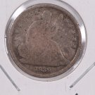 1839-O Seated Liberty Dime. Large O, Circulated Coin. Store #0553.